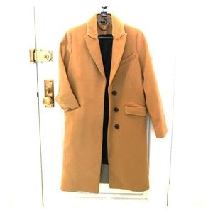 Camel colored TopShop wool coat